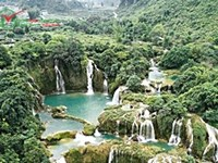 Majestic Ban Gioc Waterfall on the Vietnam border