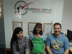 In Vietnam Tour's office - get gifts