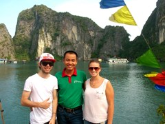 Halong bay with our friendly